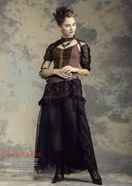 steampunk women fashion victorian punk prom bridesmaid maxi dress