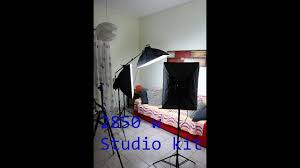 2850w studio light kit with 3 softboxes unboxing assemble and