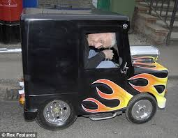 man turns postman pat ride u0027s smallest car daily mail