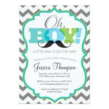 baby shower mustache oh boy mustache baby shower invitation zazzle