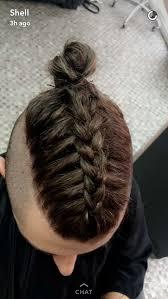 man braid undercut top knot ig mike dugg my life pinterest