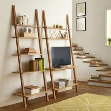Natural Oak Leaning Shelves With Pinterest