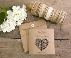 folded wedding invitations vintage heart collection square folded wedding invitation x 25