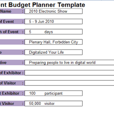 event planning budget planner template archives excel templates