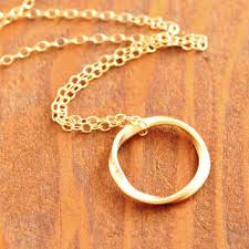 gold ring necklace images Shop gold eternity circle necklace on wanelo jpg