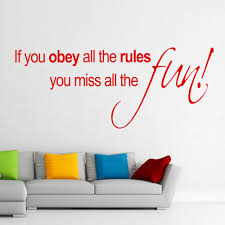 if you obey all the rules wall stickers u0026 decals