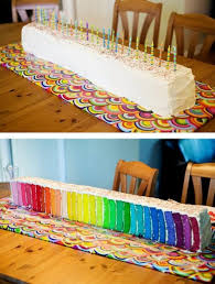 a collection of colorful cakes rainbow cakes