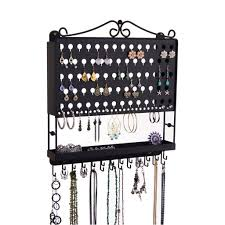Hanging Wall Organizer Wall Jewelry Organizer Hanging Earring Holder And Necklace Rack