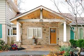 painted front porch exterior traditional with brick facade mailbox