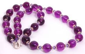 amethyst necklace beads images Amethyst sterling silver bali beads necklace ladidoodles jpg