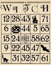 Halloween Bingo Printable Cards Free Artistic Hen Free Halloween Bingo Cards To Download Part 3