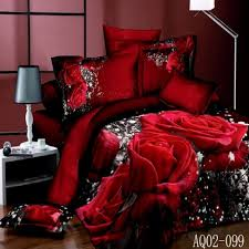 King Size Duvet Cover Sets Sale Popular Red Rose Bed Set Buy Cheap Red Rose Bed Set Lots From
