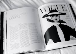 this magazine is in black and white and relies entirely on