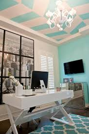 photos hgtv contemporary home office with blue and white striped