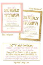 bridal luncheon wording bridal shower invitation pop the bubbly she s getting a hubby