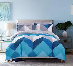 in 2 linen chevron jimmy single size quilt cover set the linen