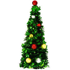 green tinsel tree with ornaments hobby lobby 6534507