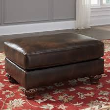Faux Leather Ottoman Signature Design By Ashley Vanceton Faux Leather Ottoman Jcpenney