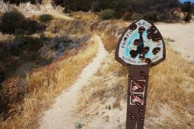 jeep trail sign pacific crest trail sign on a jeep trail crossing los angeles