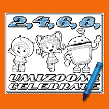 team umizoomi birthday party placemats nickelodeon parents