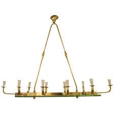 Modern Chandeliers Australia by Exquisite Mid Century Modern Ten Light Brass And Glass Chandelier
