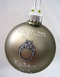 personalized engagement ornaments for the soon to be and