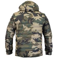 mens camo jacket brave soul coat hooded padded military reversible