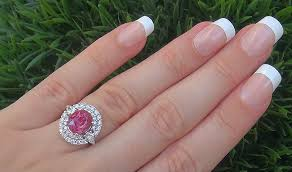 padparadscha sapphire engagement ring 5 71 ct unheated padparadscha sapphire ring