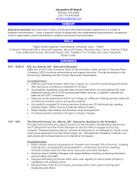 Resume Samples Of Administrative Assistant by Executive Administrative Assistant Resume Free Resume Example