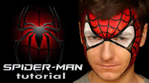 fast and cool spider man face painting design for boys this face