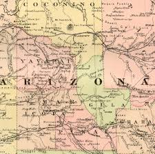 Map Of Tempe Arizona by Arizona Map Original 1895 Antique Map Vintage Map Of Arizona