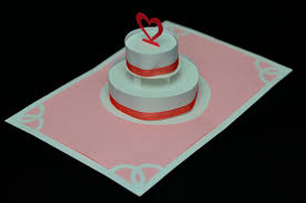 wedding cake pop up card template how to make a birthday cake or