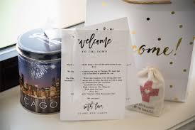 welcome bags for wedding chicago wedding welcome bag ideas shannon gail