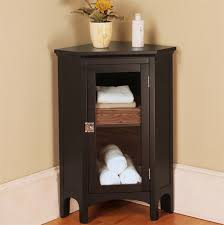 Bathroom Freestanding Cabinet Space Efficient Corner Bathroom Cabinet For Your Small Lavatory
