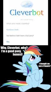 Spanking Meme - 213479 cleverbot meme rainbow dash safe spanking text