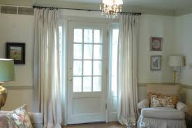 interior classy look of high ceiling window treatments using