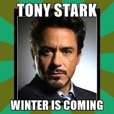 Meme Creator Winter Is Coming - tony stark winter is coming tony stark iron meme generator