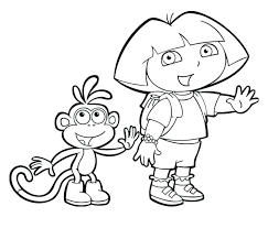 dora coloring pages for toddlers dora coloring page explorer coloring page dora coloring pages for