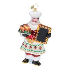 radko exclusive 2017 radko cooking claus glass ornament