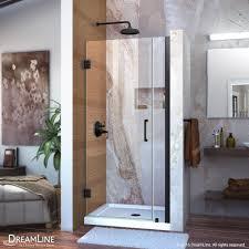 dreamline unidoor 34 in x 72 in frameless hinged pivot shower
