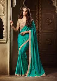 color designer radiant international blue green color designer zoya silk saree in