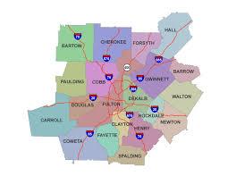 Ga Counties Map Atlanta County Map Atlanta County Map Atlanta Georgia County Map
