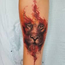 the 25 best watercolor lion tattoo ideas on pinterest