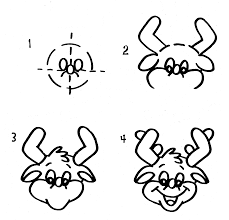 kids holiday crafts christmas draw a reindeer