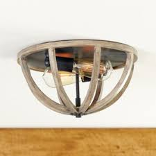 wood flush mount ceiling light hudson 2 light ceiling mount ballard designs