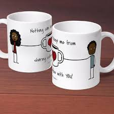 Mug Design For Him | sharing coffee with you personalized ceramic mug