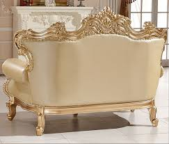 Old Fashioned Sofa Styles Golden Color Antique Style Sofa Set Kt1037 In Living Room Sofas