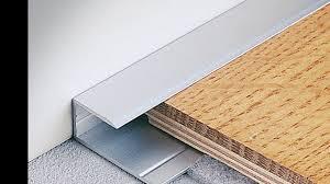 Laminate Flooring Edging Laminate Floor Metal Edging Youtube