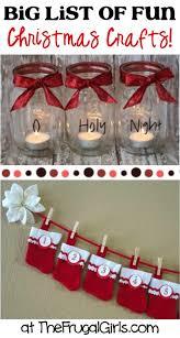 christmas table favors to make big list of christmas crafts at thefrugalgirls christmas