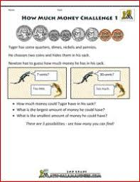 counting money sheets count the coins to 1 sheet 2 money